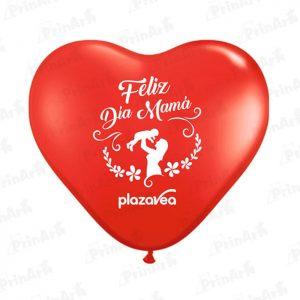 Globo Corazon Dia de la Madre Plaza Vea