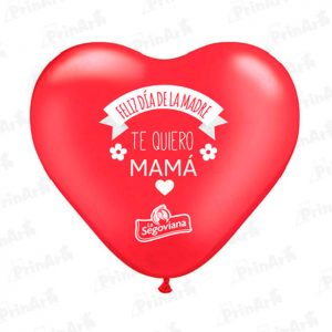 Globo Corazon Dia la Madre La Segoviana