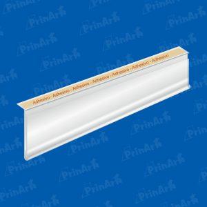ETIQUETERO DE PVC TRANSPARENTE CON ADHESIVO