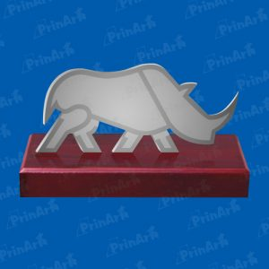 Trofeo Acrilico Hermes Rinoceronte