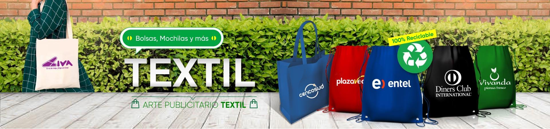 Serigrafía en bolsas ecologicas, maletines de deporte reciclables en Lima Peru